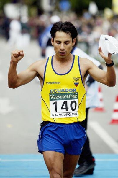 Jefferson Perez (ECU) wins Naumburg 20km (Getty Images)