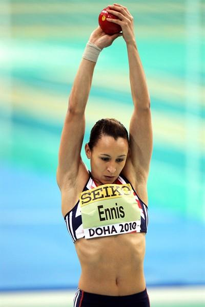 Jessica Ennis of GBR during the Pentathlon (Getty Images)