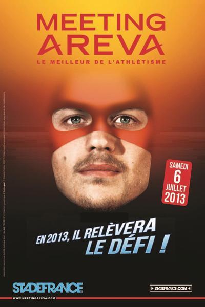 Christophe Lemaitre 2013 IAAF Diamond League meeting in Paris advert  (Organisers)