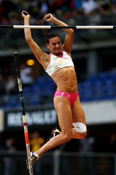 One jump is enough for Yelena Isinbayeva to take victory in the women's vault (Getty Images)