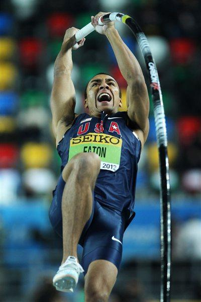 Ashton Eaton of the United States competes in the Men's Pole Vault in the Heptathlon during day two - WIC Istanbul (Getty Images)