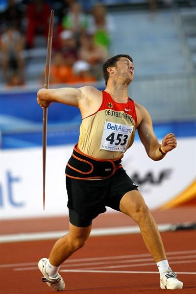 Till Wöschler's first-round throw destroyed the opposition in the Javelin (Getty Images)