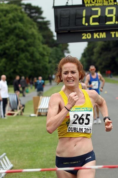 Marie Jose Poves winning at the 2013 Dublin Grand Prix of Race Walking  (Mark Easton)