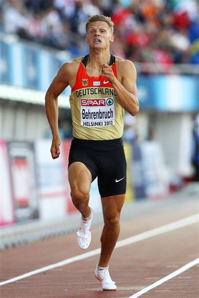 Germany's Pascal Behrenbruch en route to his 8558 PB tally to take the European title (Getty Images)