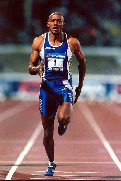 Frank Fredericks in action in the Engen series (1999) (Mark Ouma)