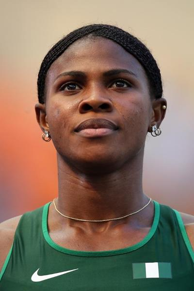 Blessing Okagbare in the womens 100m at the IAAF World Athletics Championships Moscow 2013 (Getty Images)