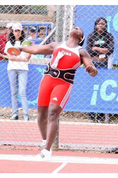 Cuban Yarelis Barrios in Cali at the CAC champs (Fernando Neris)