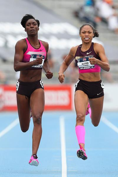 Kimberlyn Duncan upsets Allyson Felix in the 200m at the 2013 US Championships (Getty Images)