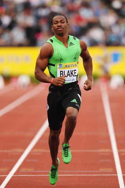 Yohan Blake in action at the IAAF Diamond League meeting in London (Getty Images)