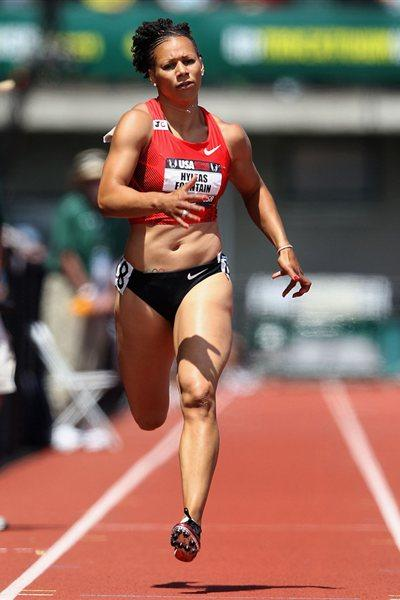 Hyleas Fountain crusing to a 200m victory in the US championships Heptathlon (Getty Images)