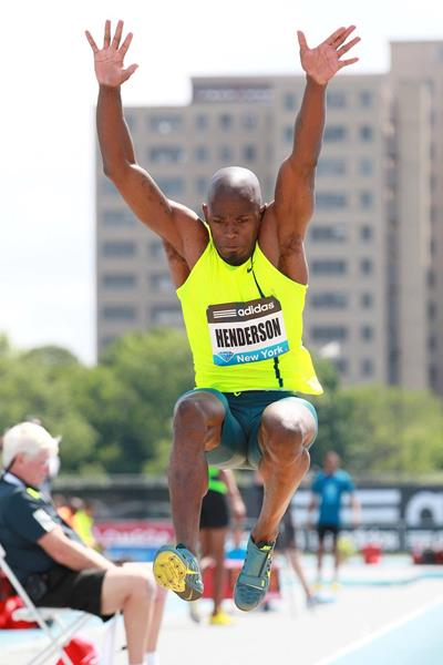Jeffrey Henderson at the 2014 IAAF Diamond League meeting in New York (Victah Sailer)