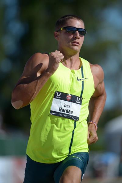 Trey Hardee on his way to the US decathlon title in Sacramento (Kirby Lee)
