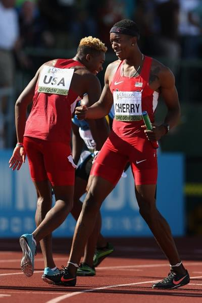 The US 4x400m team at the IAAF World Junior Championships, Oregon 2014 (Getty Images)