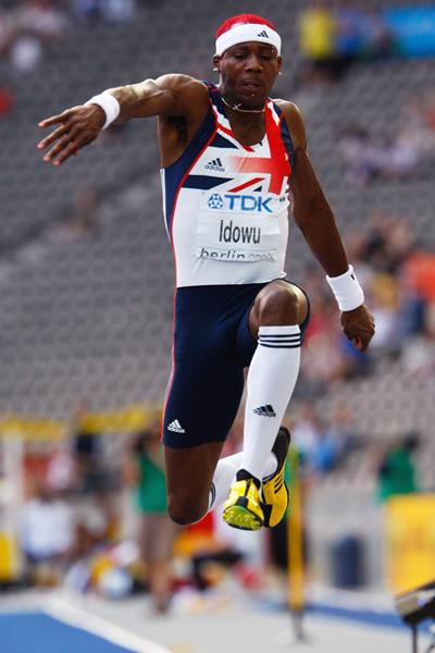 Phillips Idowu of Great Britain & Northern Ireland in the men's Triple Jump final (Getty Images)