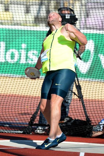 Piotr Malachowski at the 2014 IAAF Diamond League in Lausanne (Giancarlo Colombo)