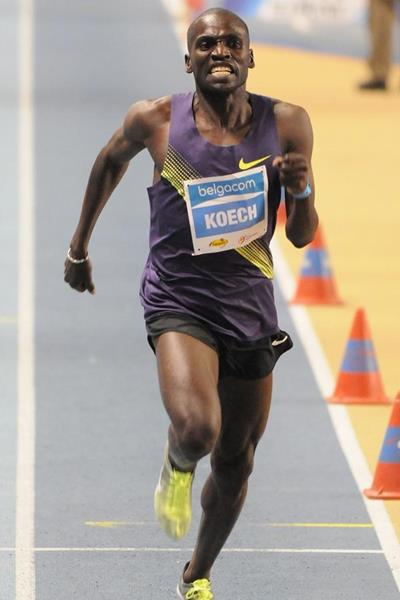 Paul Kipsiele Koech on his way to victory in Gent (Nadia Verhoft)