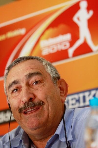 IAAF General Secretary Pierre Weiss at the Chihuahua Press Conference (Getty Images)