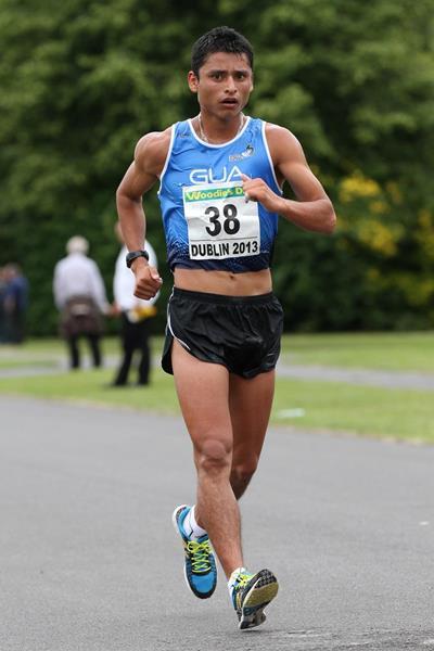 Erick Barrondo winning at the 2013 Dublin Grand Prix of Race Walking  (Mark easton)