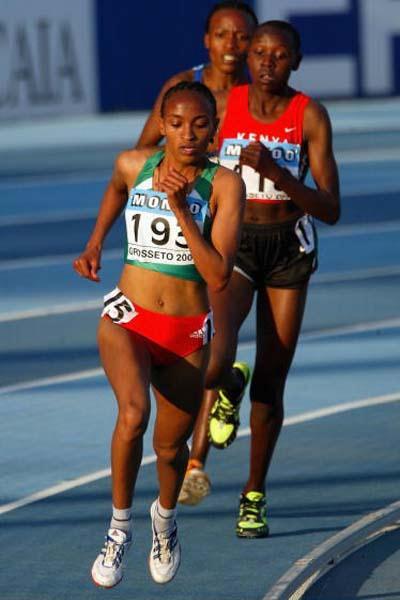 Meselech Melkamu of Ethiopia wins 5000m in Grosseto (Getty Images)