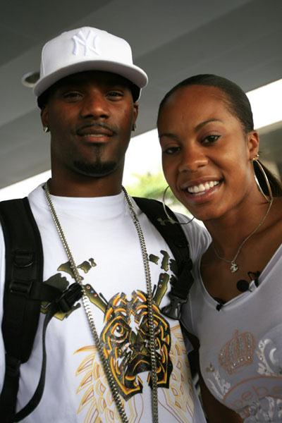 Sanya Richards and boyfriend Aaron Ross in Austin, Texas (Getty Images)