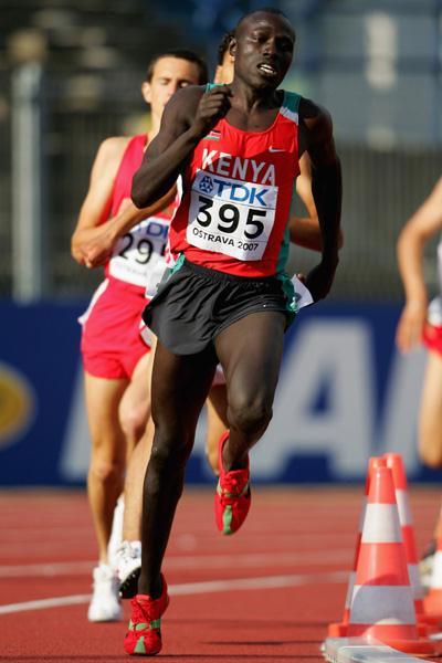 Geoffrey Kibet of Kenya in action in the 800m heat (Getty Images)