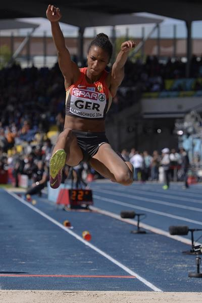Malaika Mihambo leaps 6.90m to win the long jump at the European Team Championships (Getty Images)
