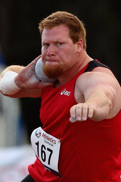 Russ Winger of USA throwing during the 2012 Australian season (Getty Images)
