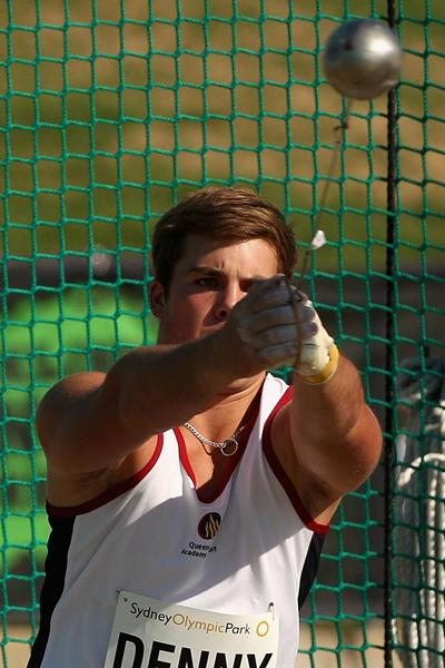 Australian thrower Matthew Denny in action (Getty Images)