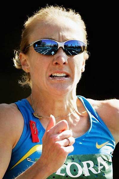 Paula Radcliffe - Flora London Marathon 2005 (Getty Images)