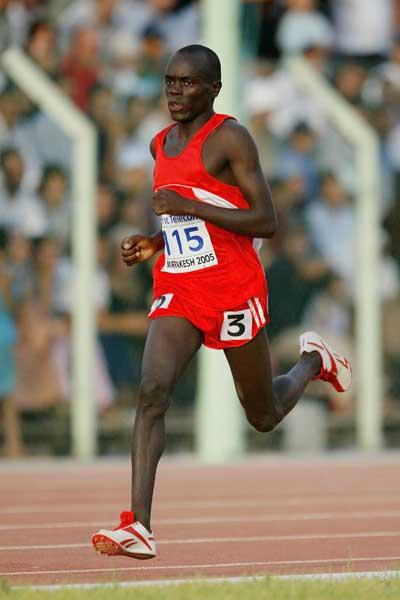 Belal Mansour Ali of Bahrain in action during the Boys' 1500m final at the World Youth Championships (Getty Images)