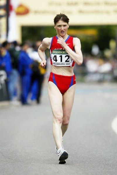 Yelena Nikolayeva (RUS) in action in Naumburg (Getty Images)