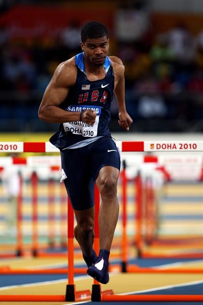 Terrence Trammell (USA) in the 60m Hurdles semi-final (Getty Images)