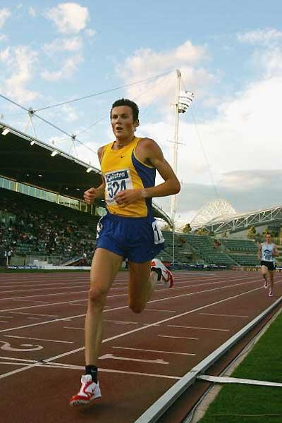 Craig Mottram running at the 2005 Australian Champs (Getty Images)