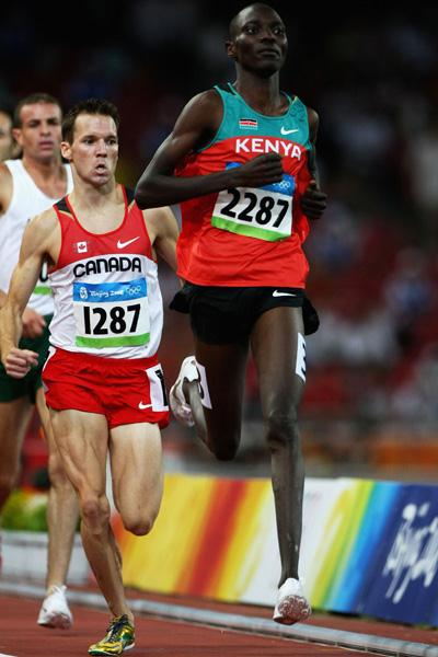 Asbel Kiprop of Kenya takes the second heat of the men's 1500m (Getty Images)
