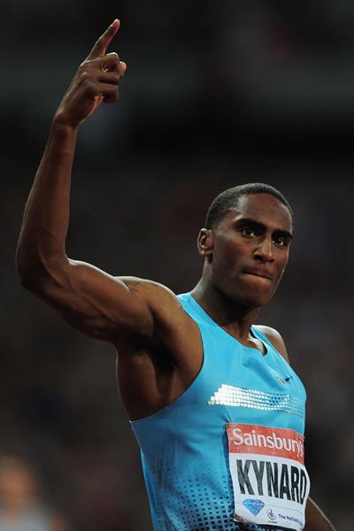 US high jumper Erik Kynard at the 2013 IAAF London Diamond League meeting (Getty Images)
