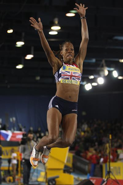 British long jumper Shara Proctor in action in Glasgow (Getty Images)