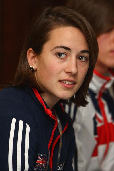 Emily Pidgeon of Great Britain at the IAAF press conference in Edinburgh (Getty Images)