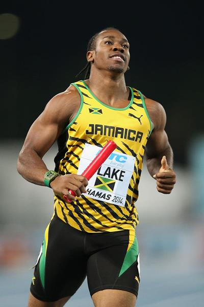 Jamaica's Yohan Blake in action at the 2014 IAAF World Relays in Nassau (Getty Images)