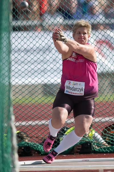Poland's Anita Wlodarczyk, winner of the hammer (Marek Biczyk)