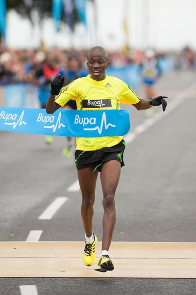 Stephen Mokoka of South Africa winning the Great South Run 10-Miler (Mark Shearman)