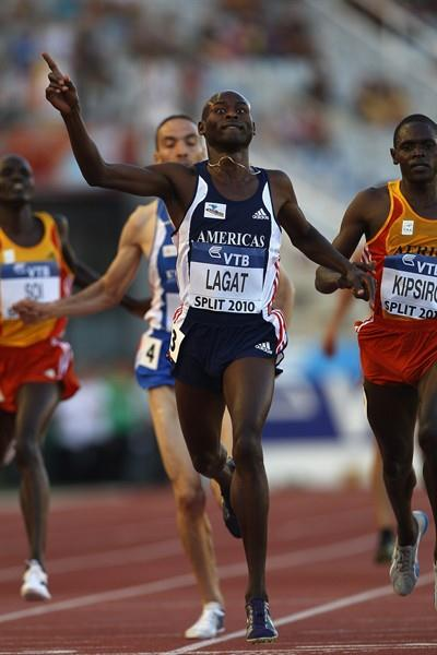 Barnard Lagat of Team Americas winning the 5000m at the IAAF / VTB Bank Continental Cup in Split (Getty Images)