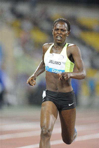 Pamela Jelimo wins the 800m at the 2012 Samsung Diamond League in Doha (Jiro Mochizuki)