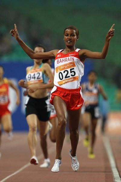 Maryam Jamal takes a comfortable 1500m victory at the Asian Games (Getty Images)
