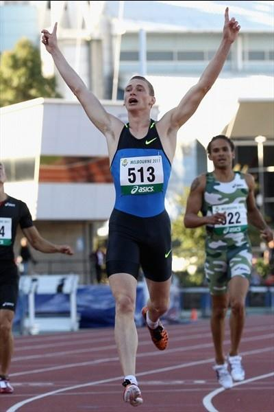 17-year-old Steve Solomon takes a 45.58 400m win at the Australian championships (Getty Images)