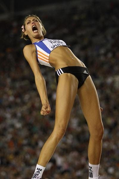 Blanka Vlasic celebrates winning the IAAF / VTB Bank Continental Cup in Split (Getty Images)