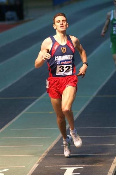Christian Obrist at the Italian Indoor Championships 2008 in Genova (Lorenzo Sampaolo)