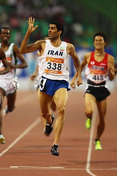 Iran's Sajad Moradi, the Asian Games 800m champion (Getty Images)