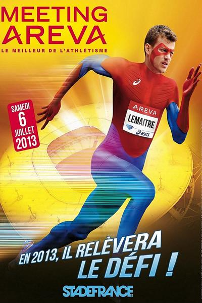 Christophe Lemaitre advertising poster for the 2013 IAAF Diamond League meeting in Paris (organisers)