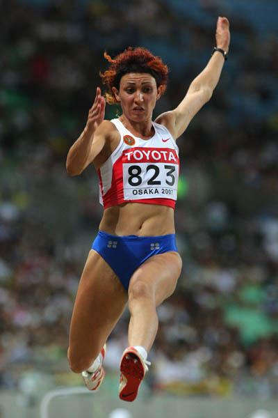Tatyana Lebedeva leads a Russian sweep in the women's Long Jump (Getty Images)