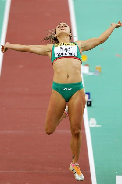 Kelly Proper of Ireland competes in the Long Jump qualifications (Getty Images)
